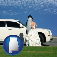 alabama a white wedding limousine