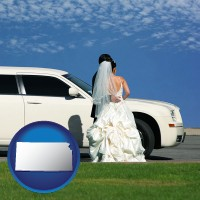 kansas a white wedding limousine