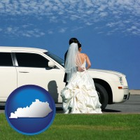 kentucky a white wedding limousine